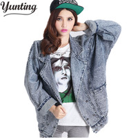 New 2019 oversized denim jacket spring jaqueta jeans casacos femininos women coat denim jacket retro women blue jean jackets