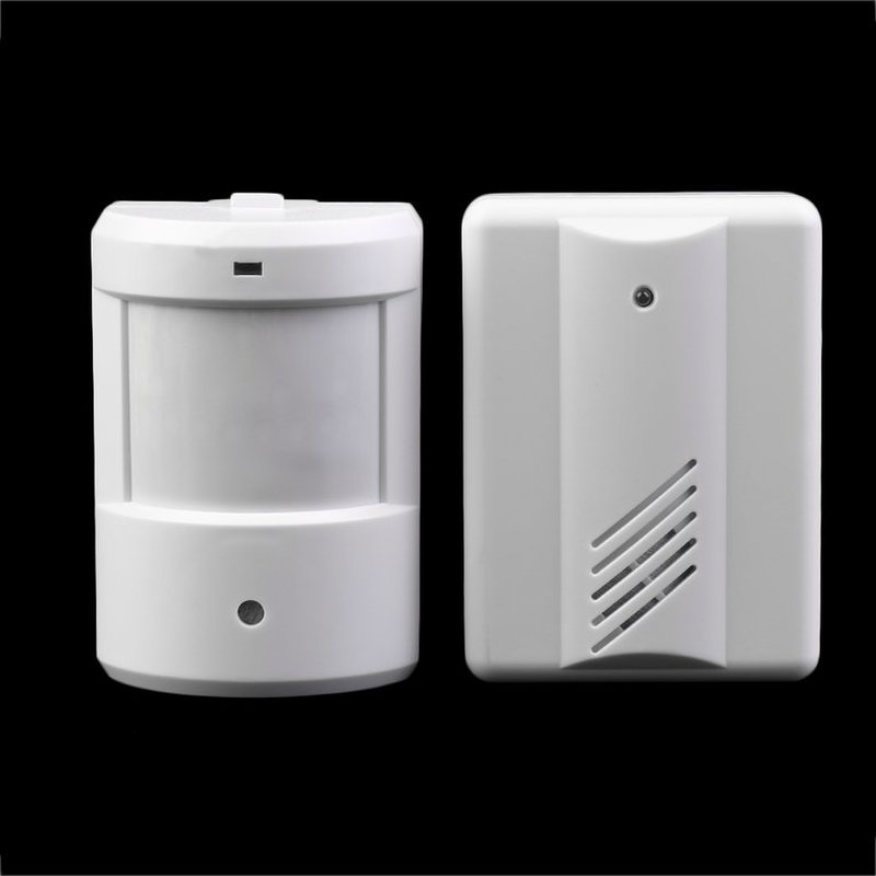 Driveway Patrol Garage Infrared Wireless Doorbell Alarm System Motion Sensor Smart Door Bell qiachip 2017 brand wireless digital doorbell with pir motion sensor infrared detector induction alarm door bell button home diy
