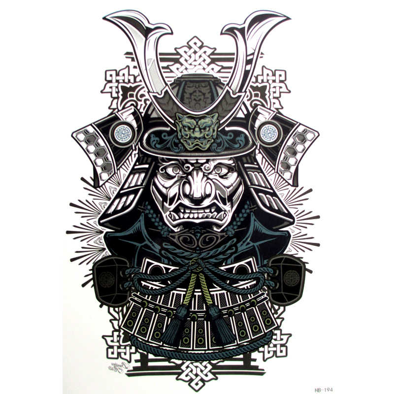 9603ee030 Detail Feedback Questions about 10pcs Sexy Cool Beauty Japanese Samurai  Warrior Tattoo 21 X 15 CM Tattoo Waterproof Hot Temporary Tattoo Stickers  on ...