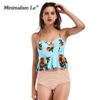 Minimalism Le Sexy Bikini 2017 New Women Swimsuit No Push Up Bikini Set Women Swimmingwear Retro