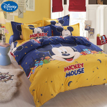 Mickey mouse Bedding Set Cover pillowcase quilt minnie cartoon Children bedclothes bed set Disney Home textile