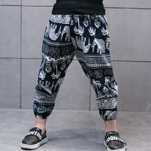 цены Summer Baby Boys Girls Harem Pants Kids Children Lantern Trousers Boys Girls Clothes Kids Casual Pants Joggers 2-7year DS9