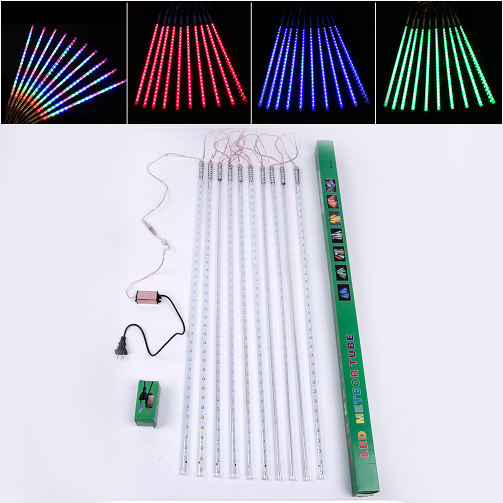 ZjRight 80CM Meteor Shower Rain Tubes 720LED Waterproof Outdoor gala Christmas Wedding Party effect lights Garden String Lights