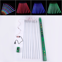 ZjRight 80CM Meteor Shower Rain Tubes 720LED Waterproof Outdoor Gala Christmas Wedding Party Effect Lights Garden