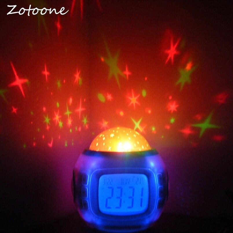 ZOTOONE музыка звезда светодиодный проектор будильник, календарь ночь свет лампы Спальня музыка Будильник для детской комнаты дома декор