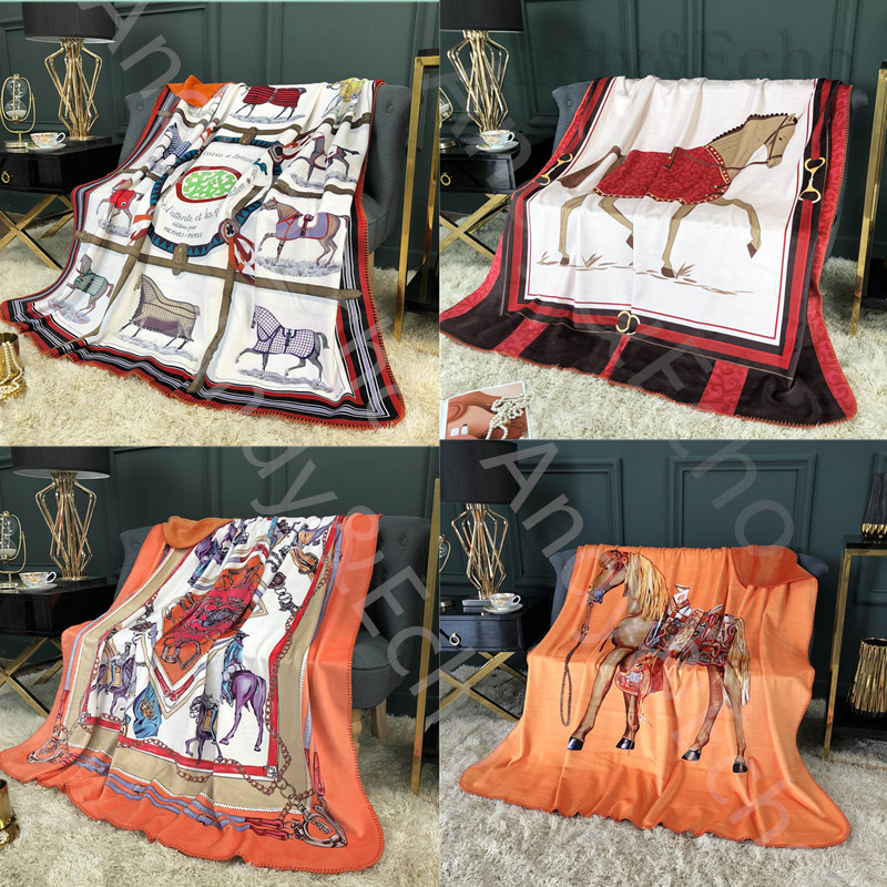 Double Layer Throw Blanket Weighted Knitted Horse Blankets Plaid Bedspreads Sofa Bed Winter Thick Fleece Warm Soft Fluffy Plush|Blankets| - AliExpress