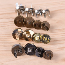 10PCS/LOT Magnetic Snap DIY Handbag Purse Clasp Closures Metal Button Bag Accessories Parts Bag Button 18mm/14mm(China)