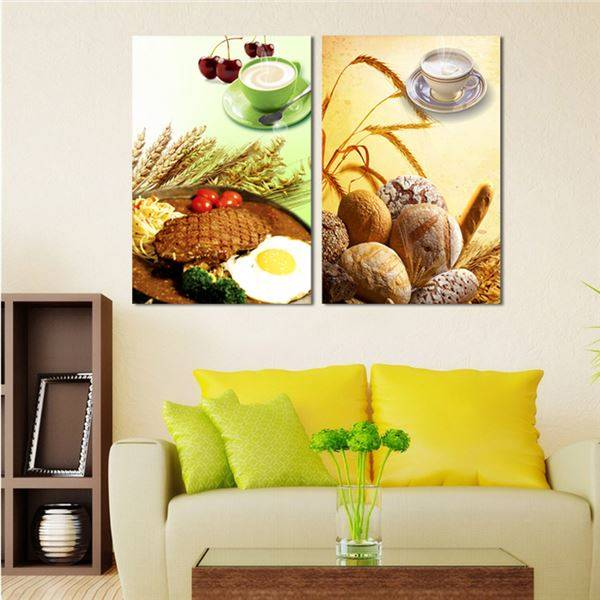 Unframed Steak Coffee Canvas Picture Home Decor Kitchen Wall Decor ...