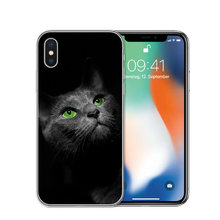 Cute Black Cat Phone Case N.1 For iPhone X 5S SE 6 6S 7 Plus 8 8Plus