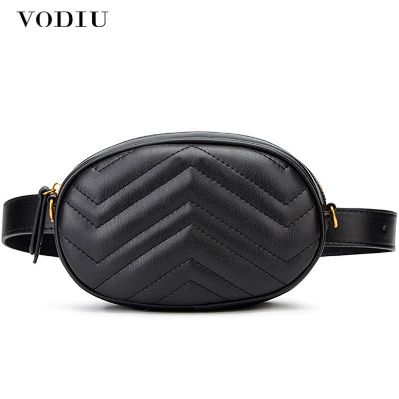 Waist Bags Women PU Leather Fanny Pack Bags For Ladies Casual Luxury Brand Pack Fashion Small Chest Handbag Women Belt Bags