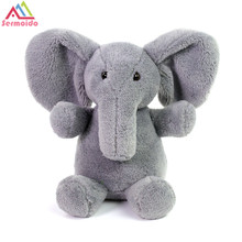 sermoido 10'' Baby Animated Flappy Grey The Elephant Plush Regular Stuffed Collectible Soft Doll Toy DBP213 fluffy toy hidden cat hide and seek game baby animated stuffed elephant dolls m15