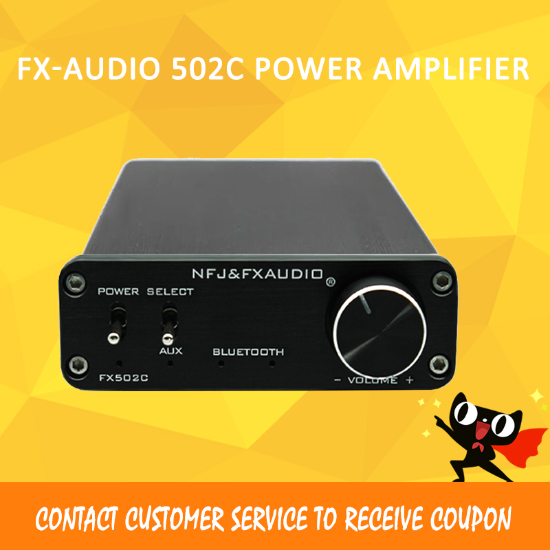 FX-AUDIO FX502C bluetooth amplifier hifi amplifier 2.1 TPA3116 power amplifiers amplificador audio 2018 hot selling hifi 100w amplifiers pass ce certification with 12v 5a power supply tpa3116 bluetooth 4 0 power amplifier