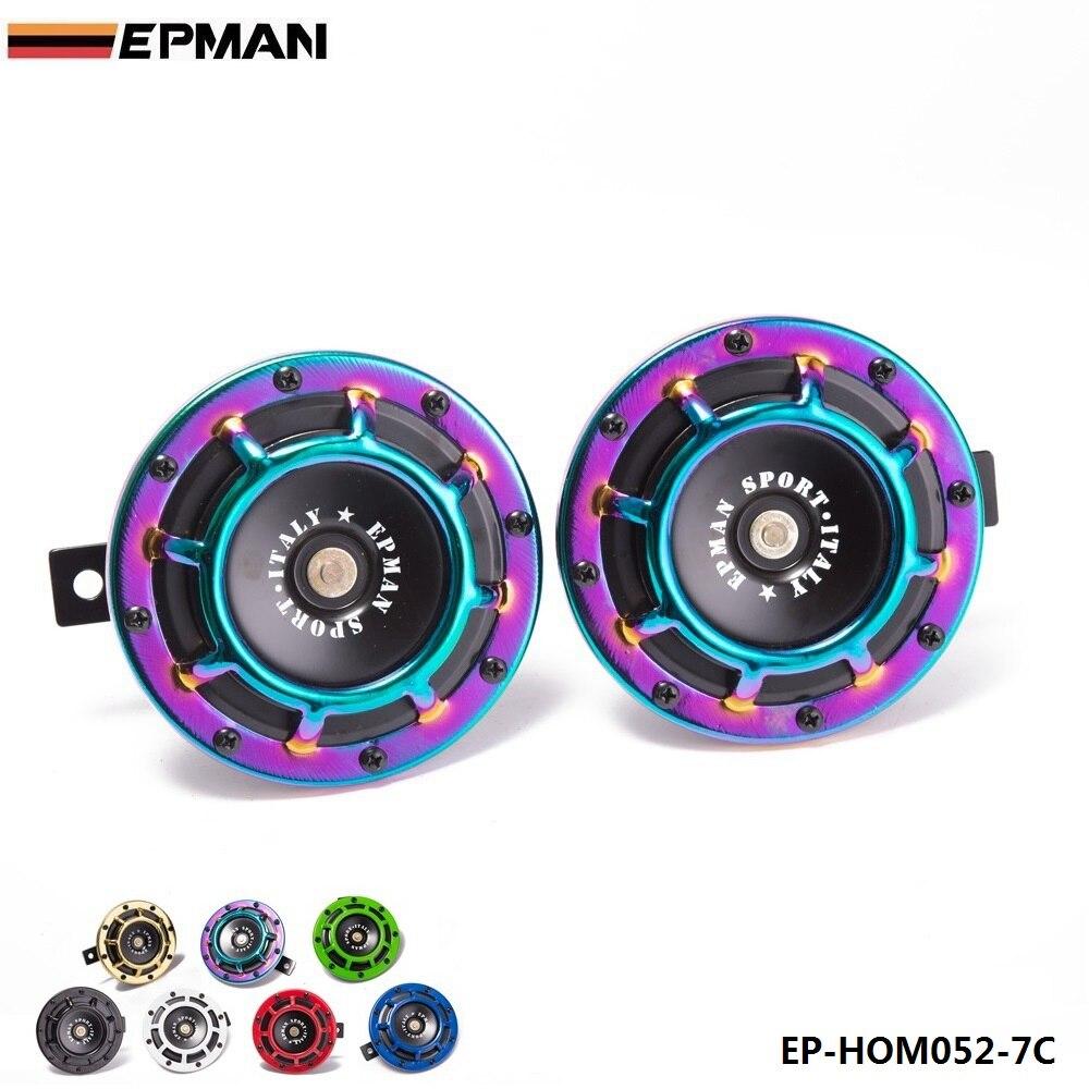 1 זוג 12V 110DB אוניברסלי סורג הר תאום סופר טון חשמלי צופר מכונית עבור BMW אאודי פולקסווגן עבור הונדה רכב EP-HOM052