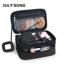 JULY'S SONG New Nylon Travel Make Up Bag Solid Waterproof Toiletries Organizer Large Capacity Portable Wash Bag