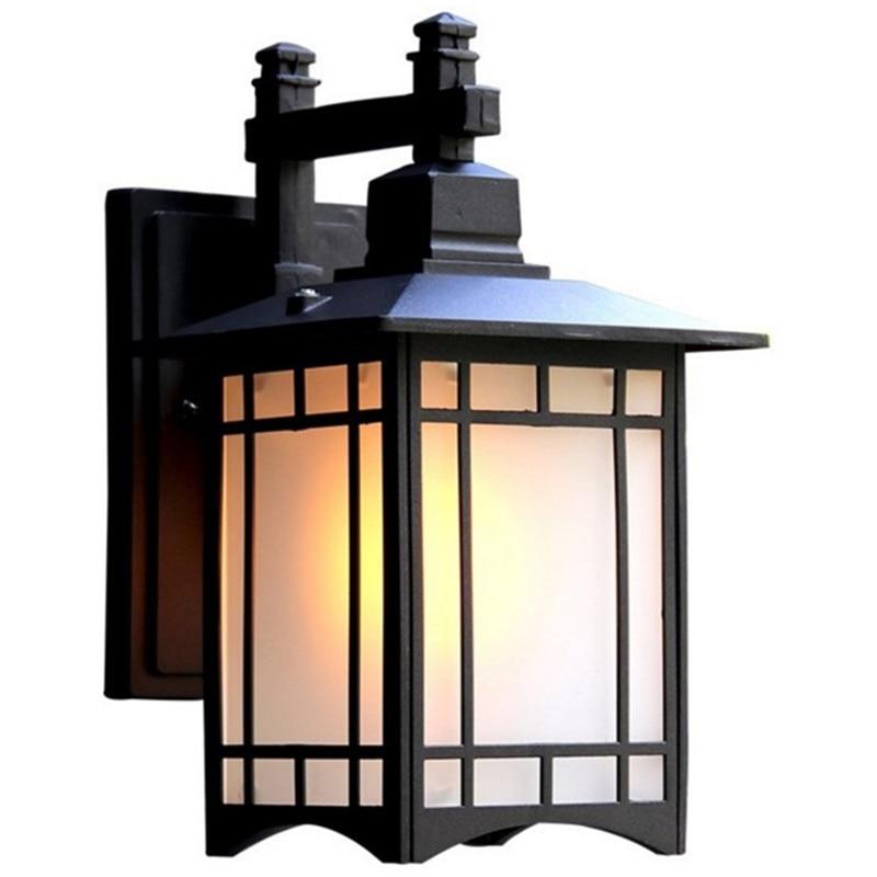 Retro Outdoor Lighting Wall Lamps Porch Lights Japanese Lantern Waterproof Corridor Garden Wall Light Outdoor Luminaire-in Outdoor Wall Lamps from Lights & Lighting