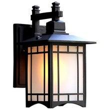 Retro โคมไฟติดผนังกลางแจ้ง Porch ไฟญี่ปุ่นโคมไฟกันน้ำทางเดินสวนโคมไฟติดผนังกลางแจ้งโคมไฟ