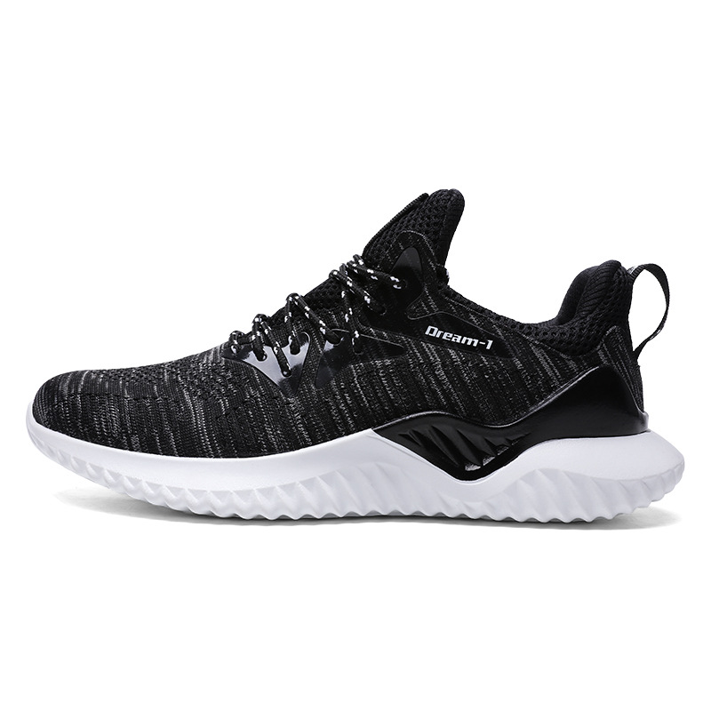 hot sale 2018 new fly weaving air breathable men running shoes surface cushioning sports shoes Lightweight basket femme sneakers