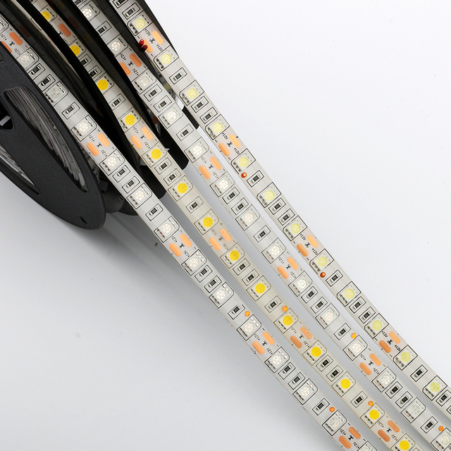 5M Led Strip Light 5050 3528 DC12V 60led/m Led Fiexble Light Lamp Waterproof RGB White Warm White Blue Green Red Ribbon Tape