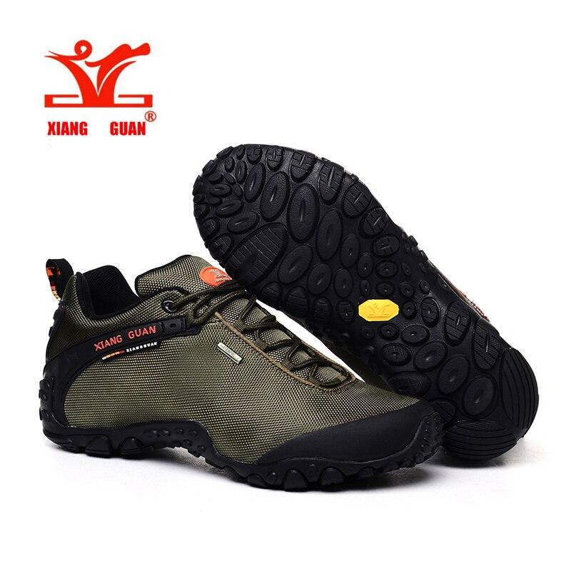 XIANG GUAN Hiking Shoes Low Cut Boots Outdoor Sneakers Athletic Sport Shoes Men Trekking Breathable Camping Climbing Shoe xiang guan breathable leather athletic sneakers man woman trainer sport shoe height increasing running shoes for women 3377