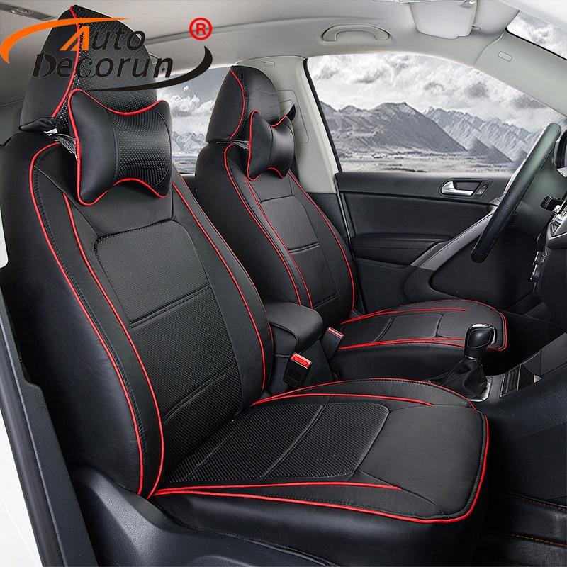 AutoDecorun PU Leather Cover Seat For Suzuki Jimny