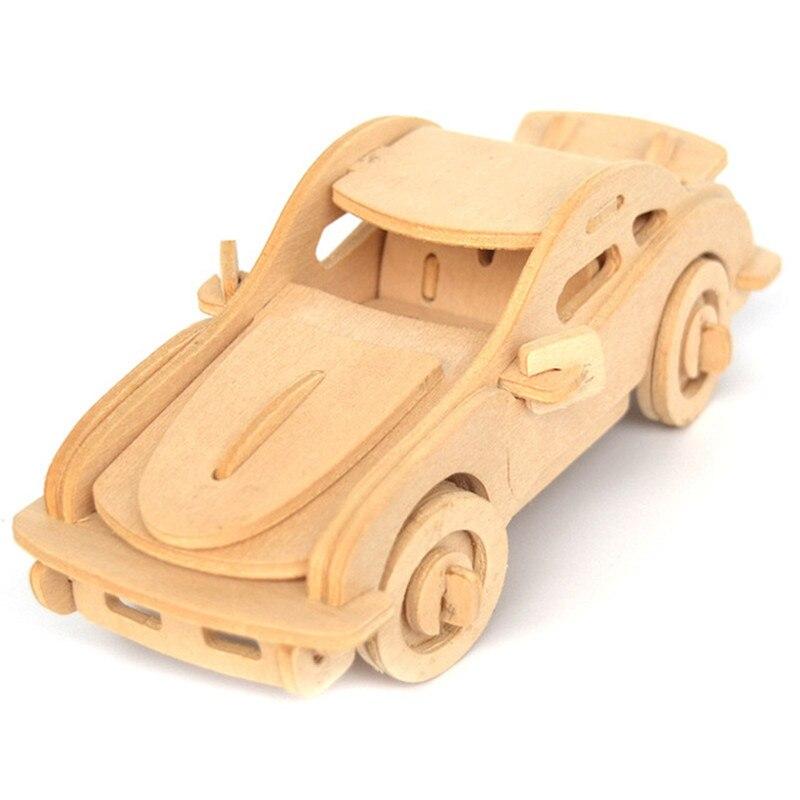 kids toys assembled 3d puzzles toy building diy wooden educational toys jigsaw 3d car model puzzle