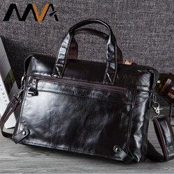 MVA Männer Aktentaschen Aus Echtem Leder Taschen Männer Aktentasche Handtaschen Büro Taschen Für männer Tasche Leder Laptop Tasche Business Aktentaschen