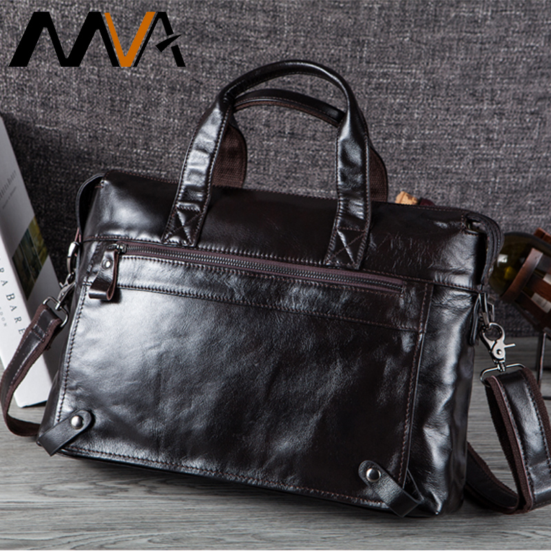 MVA Men Briefcases Genuine Leather Bags Men Briefcase Handbags Office Bags For Men's Bag Leather Laptop Bag Business Briefcases