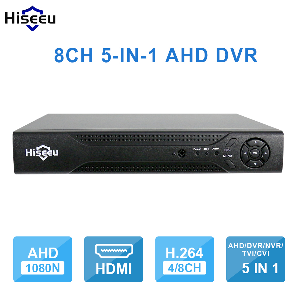 Hiseeu 8CH 960P DVR video recorder for AHD Camera Analog Camera IP camera P2P NVR Cctv System DVR H.264 VGA HDMI Dropshipping 43 hiseeu 8ch 960p dvr video recorder for ahd camera analog camera ip camera p2p nvr cctv system dvr h 264 vga hdmi dropshipping 43