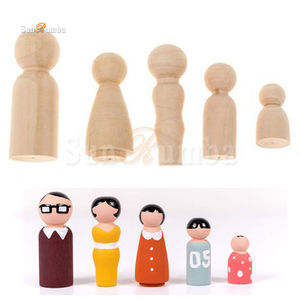 5pcs Family Wooden Unfinished