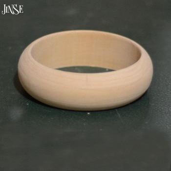 JINSE 100Pcs Big Round DIY Unfinished Wooden Bangles Wood Bracelet Jewelry  WOD053-100