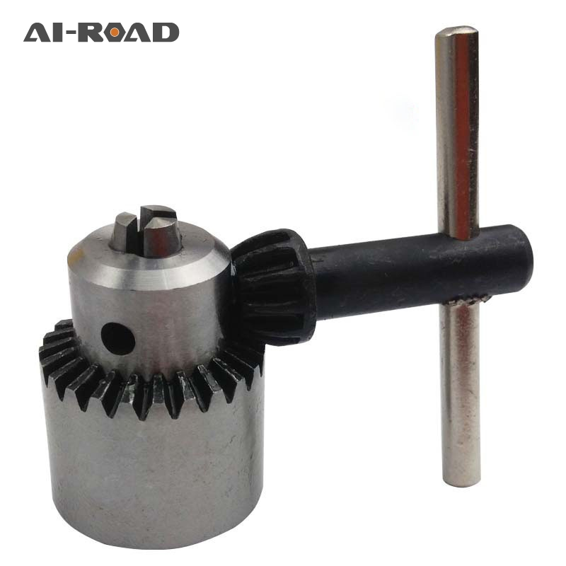 AI-ROAD New  Drill Chucks Clamping 0.3-4mm Jt0 Taper Mounted Drill Chuck With Chuck Key Micro Motor