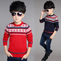 Boys sweater 2017 children spring children new sweaters Cotton Knit Jacquard diamond boys clothes sweater