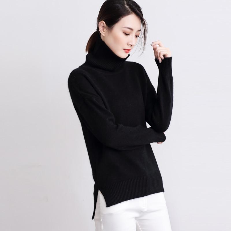 Wanita Sweater Dan Pullover Sweater Kasmir wanita Fashion Turtleneck - Pakaian Wanita