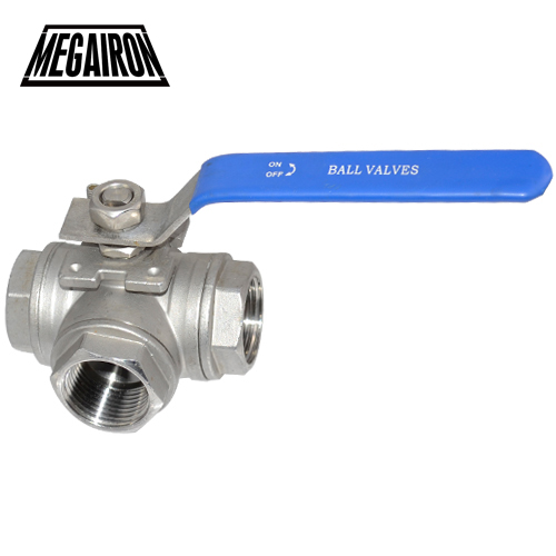 MEGAIRON 1-1/2 DN40 Female 3 Way BSP Stainless Steel 316 Type L Mountin Pad Ball Valve Pipe Fittings free shipping 2 stainless steel horizontal female check valve one way non return valve pipe fittings pneumatic parts