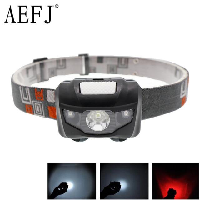 Mini latarka 4 tryby przenośny AAA reflektorów głowy latarka latarka lampa światła Camping światła do połowów konna jazda na rowerze