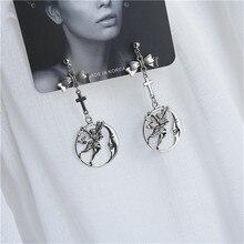 Punk fashion retro cross angel bow heart pendant earrings For Man Women earring Jewelry wholesale