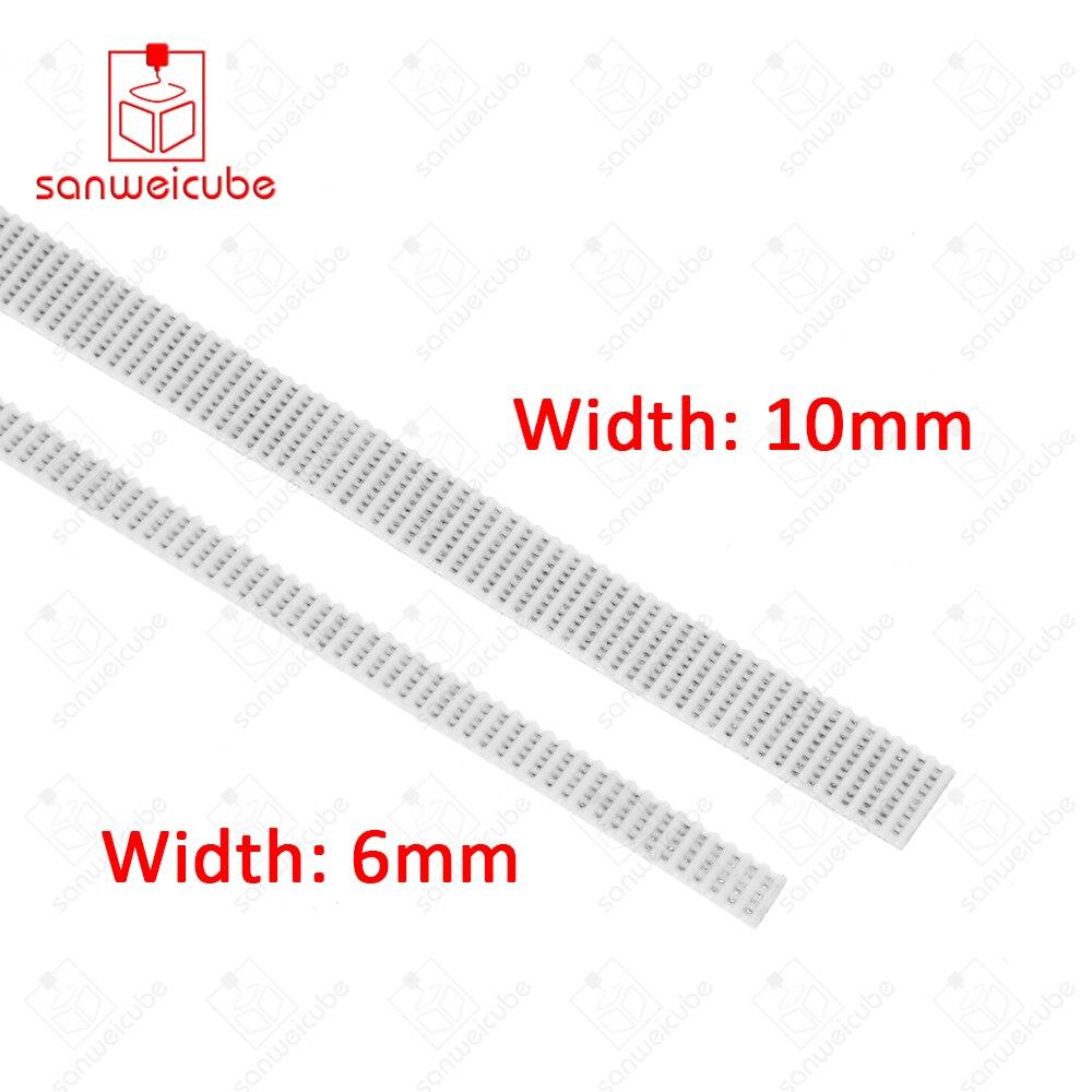 2M 3D Printer Accessories 2GT-6MM 10MM PU with steel core GT2 Open Timing Belt Width 6mm 10mm for RepRap Mendel Rostock CNC 1m lot 3d printer accessories gt2 synchronous timing belt wide 6mm 2mm pitch 2gt 6mm for 3d printer reprap mendel belt pulley