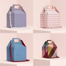 Ins Acrylic Chains Box Bag for Women Winter Corduroy Color P