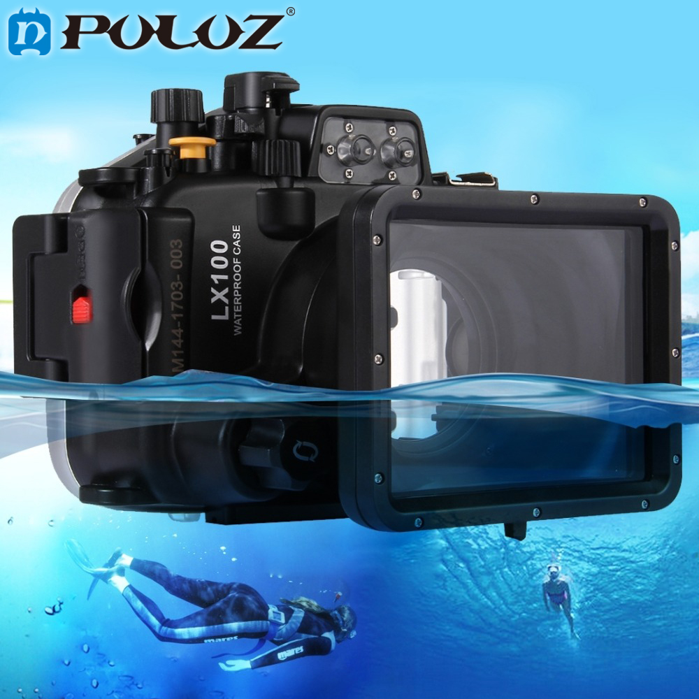 PULUZ 40m 128inch 130ft Underwater Swimming Diving <font><b>Case</b></font> Waterproof Camera bag Housing <font><b>case</b></font> for Panasonic <font><b>LUMIX</b></font> DMC-<font><b>LX100</b></font> <font><b>LX100</b></font> image