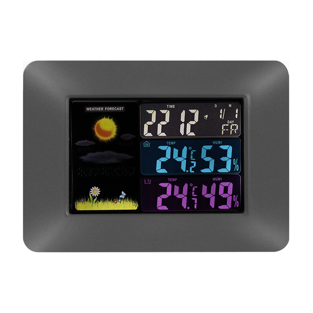 Wireless Digital Colorful LCD Weather Station Forecast Indoor Outdoor Thermometer Hygrometer Calendar Clock HS850-SZ  цены