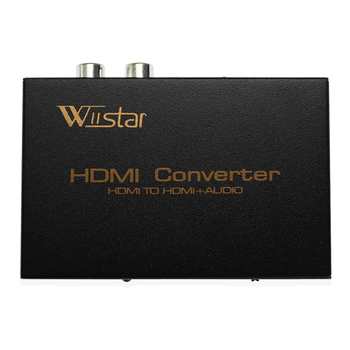 цена на Wiistar 1080P HDMI to HDMI Optical SPDIF + RCA L / R Audio Extractor Converter Suppport 5.1 + RCA L/R Audio Video free shipping