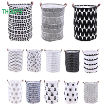 Home Organization and Storage Large Laundry Basket Cartoon Toys Bucket Washing Dirty Clothes Organizer Holder