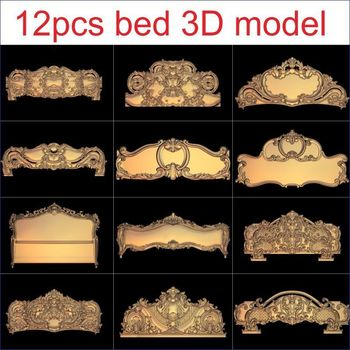 12pcs/set bed 3D Model STL relief for cnc STL format Furniture 3D STL format furniture decoration цена 2017