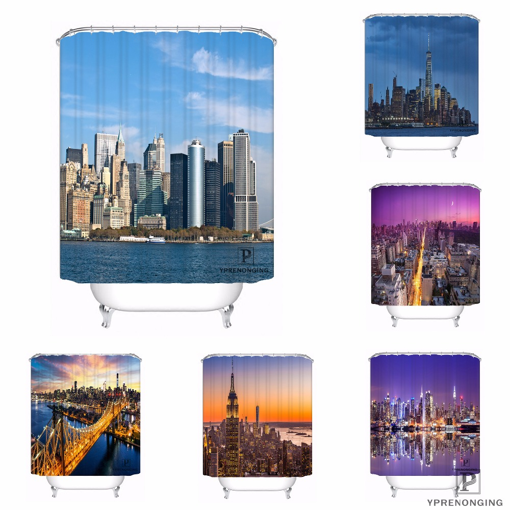 Custom New York City Waterproof Shower Curtain Home Bath Bathroom s Hooks Polyester Fabric Multi Sizes#180421-Sina-10