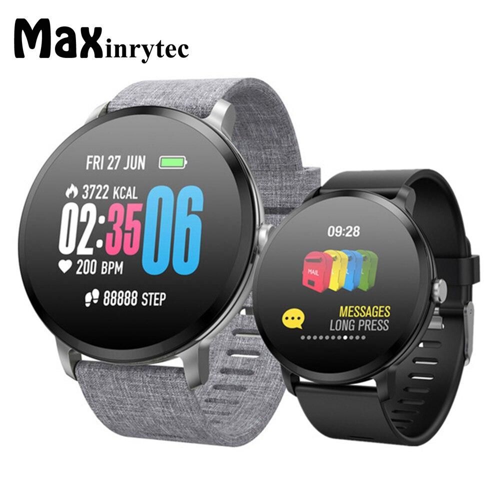 V11 montre intelligente IP67 étanche verre trempé activité Fitness tracker moniteur de fréquence cardiaque bord hommes femmes Smartwatch 10 pcs/Lot