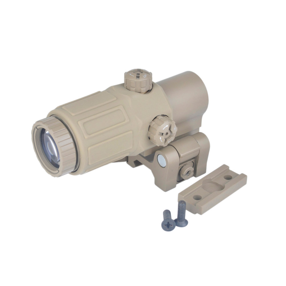 SEIGNEER Telescope Hunting Scope ET Style G33 3X Magnifier with Switch to Side Quick Detachable For 20mm Weaver Rail MountsSEIGNEER Telescope Hunting Scope ET Style G33 3X Magnifier with Switch to Side Quick Detachable For 20mm Weaver Rail Mounts