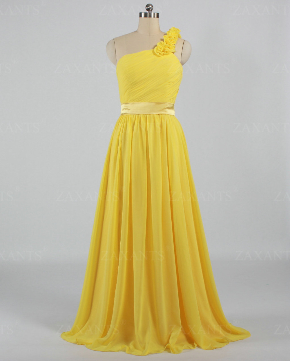 E1758 free shipping vinage wedding party guest one for Yellow dresses for wedding guests