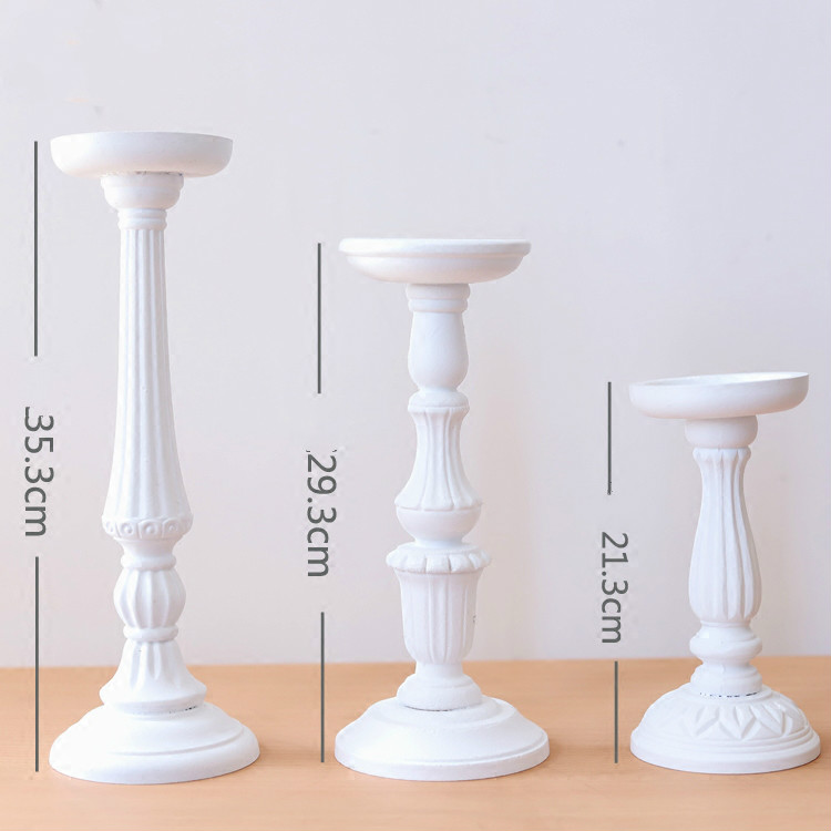 Home & Garden Candle Holders Flower Vase Candlestick Wedding Decoration Table Centerpiece Flower Rack Road Lead Wedding Party Decoration A $ Candles & Holders