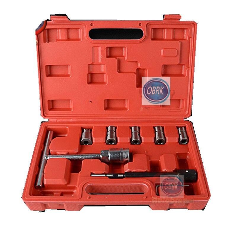 7 pièces Diesel buse de pulvérisation outil de nettoyage Cutter buse d'huile siège réparation décapant alésoir