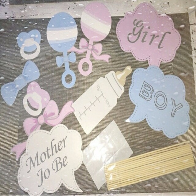 New Party Gifts Photo Booth Props Diy Bottle Baby Shower Boy Girl